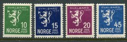 NORWAY 1925 Annexation Of Svalbard MNH / **.  Michel 116-19 - Unused Stamps