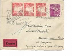LE 0684. N° Yv. 408-419(3) WARSZAWA 22.XII.38 S/Lettre EXPRES - 1919-1939 République