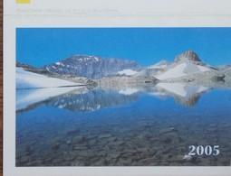 Petit Calendrier De Poche 2005 La Poste Luxeuil Les Bains - Vallorcine Lac Vert Au Col De La Terrasse - Calendars