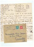 LETTRE DEPART RODEZ (AVEYRON ) Pour RAMBOUILLET (S & O) 1944 - 1939-45