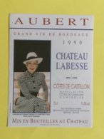 ETIQUETTE BORDEAUX  CHATEAU LABESSE   GENEVIEVE DE FONTENAY 1990  SCE VIGNOBLES AUBERT - Bordeaux
