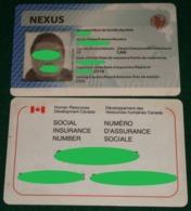 Lot Of 2 Rare Collectible Expired Cards NEXUS & Social Insurance - Non Classificati