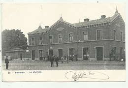 Enghien -  La Station  - Verzonden 1900 (2 Scans) - Enghien - Edingen