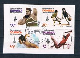 Dominica 1980 Olympia Mi.Nr. 667/70 Kpl. Satz Gestempelt Auf Papier - Dominica (1978-...)