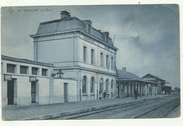 Diksmuide - Dixmude - SBP 26 -  La Gare  - Verzonden 1911 (2 Scans) - Diksmuide