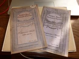 2 Programmes Théâtre Royal D'Anvers 1919-1920 Et 1921 - Programs