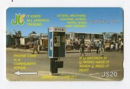 JAMAIQUE TELECARTE REF MV CARD JAM-12A J$20 CN 12JAMA DATE 1993 - Jamaica