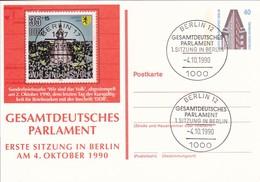 Berlin - Ganzsache Und Sonderstempel 1. Sitzung Gesamtdeutsches Parlament - 4.10.1910  (49190) - [5] Berlin