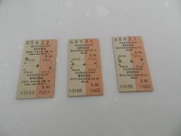 Lot De 3 Tickets   Dagretour   Breda    Den  Haag - Biglietti Di Trasporto