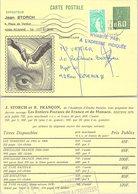 FRANCE - ENTIER POSTAL MARIANNE DE BEQUET 0.80 + 0.20 - JEAN STORCH  - CACHET ROANNE 8.2.1979   /3 - Cartoline Postali Ristampe (ante 1955)