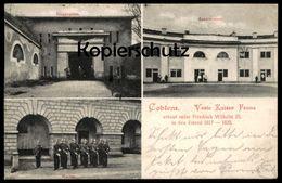 ALTE POSTKARTE COBLENZ VESTE KAISER FRANZ KASERNEMENT WACHE EINGANGSTOR Koblenz Ansichtskarte Postcard Cpa AK - Koblenz