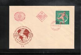 Bulgaria 1962 World Football Cup Chile FDC - Fußball-Weltmeisterschaft