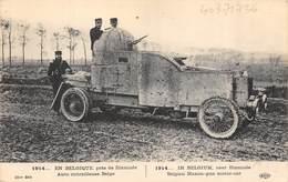 CPA MILITARIA AUTO MITRAILLEUSE BELGE GUERRE 1914 1918 - Materiaal