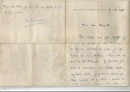 EDOUARD DALADIER(CARPENTRAS 1884 PARIS 1970)HOMME POLITIQUE PRESIDENT DU PARTI RADICAL SOCIALISTE LETTREA SIGNATURE1938 - Autógrafos