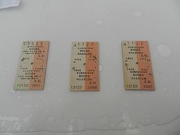 Lot De 3 Tickets   Dagretour   Breda   Haarlem - Biglietti Di Trasporto