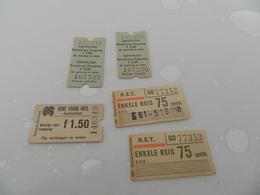 Lot De 5  Tickets    Voir Photo - Biglietti Di Trasporto