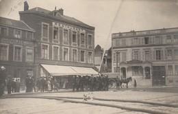 Saint-Quentin - Place Sainte-Marguerite - Pompiers - Carte Photo - Saint Quentin