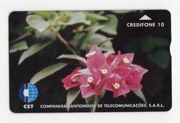 SAO TOME TELECARTE REF MV CARD STM-02 10U CN 708L DATE 1997 FLOWER 1 MINT 3000 Ex - São Tomé Und Príncipe
