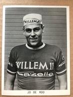 Jo De Roo - Willem II - Gazelle 1967 - Carte / Card - Cyclists - Cyclisme - Ciclismo -wielrennen - Cyclisme