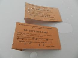 Lot De 2    Tickets   Breda    - 20 Rittenkaart    Voir Photo - Biglietti Di Trasporto