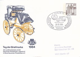Berlin - Ganzsache - Postkarte Mit Sonderstempel  - Tag Der Briefmarke BDP - 1984 (49197) - Cartes Postales Privées - Oblitérées