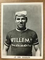 Jo Van Seggelen - Willem II - Gazelle 1967 - Carte / Card - Cyclists - Cyclisme - Ciclismo -wielrennen - Cyclisme