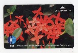 SAO TOME TELECARTE REF MV CARD STM-03 20U CN 708L DATE 1997 FLOWER 2 MINT 3000 Ex - São Tomé Und Príncipe