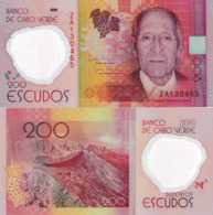 CAPE VERDE 200 Escudos Banknote, From 2014, P71, UNC - Cap Vert