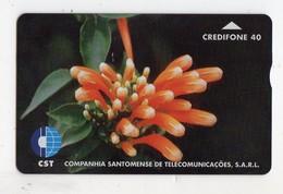 SAO TOME TELECARTE REF MV CARD STM-05 40U CN 708L DATE 1997 FLOWER 4 MINT 3000 Ex - São Tomé Und Príncipe