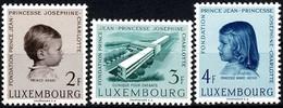 Luxembourg, Luxemburg 1957 Clinique Pour Enfants, Série Neuf, Michel: 569-571** MNH, Val.Cat. 6,00€ - Luxembourg