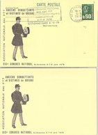 FRANCE - ENTIER POSTAL MARIANNE DE BEQUET 0.60 - 19e CONGRES ACVG  - CACHET SAINT ETIENNE 6.6.1978   /4 - Postal Stamped Stationery