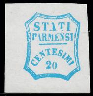 Parma - Governo Provvisorio: 20 C. Azzurro - 1859 - Parma