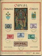 5* ORVAL : Les Lettrines N° 625/30 (n°  De Feuille: 09714)  Obl. Orval 08/10/43  Abbaye - Abdij - ....-1951