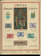 5* ORVAL : Les Lettrines N° 625/30 (n°  De Feuille: 09715)  Obl. Orval 08/10/43  Abbaye - Abdij - ....-1951