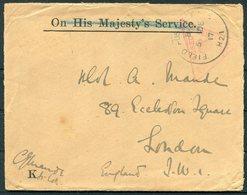 1917 GB Field Post Office H21 Bir Salem, Censor Cover - London. 21 Corp HQ. WW1 F.P.O. - 1902-1951 (Re)