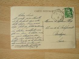 Oderen Recette Auxiliaire Cachet Hexagonal Obliteration Lettre - 1921-1960: Modern Tijdperk