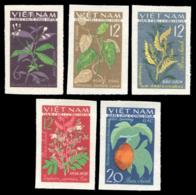 No. 287U-292U Vietnam 1963  Medicinal Plants. - Viêt-Nam