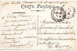 CV Expédiée De La Roche-Bernard (F) Vers Un Employé Du Ministère Des Affaires Economiques (Le Havre) - WW I