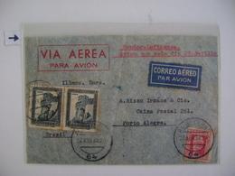 SPAIN / ESPANA - LETTER SENT FROM ALGECIRAS TO PORTO ALEGRE (BRAZIL) IN 1934 IN THE STATE - 1931-Aujourd'hui: II. République - ....Juan Carlos I