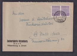 SBZ-Provinz Sachsen , Fernbrief Mit Me.F.  Mi.-Nr. 76 A, Sign. Dr.JaschBPP. - Zone Soviétique