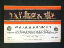 CARTOLINA -PUBBLICITARIE GIORGIO SOMMER FONDERIE ARTISTICHE NAPOLI -F.P. LOTTTO N°1007 - Cartes Postales