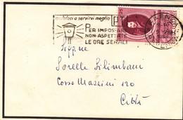 Targhetta Da Faenza Per Impostare Non Aspettate Le Ore Serali - 1946-.. République