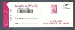France, Autoadhésif, Adhésif, 1656A, LS 6, Neuf **, TTB, Marianne L'engagée, Lettre Suivie 20g, Rose - Autoadesivi