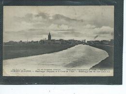 Europe-Belgique-ROUSBRUGGE-Une Vue Panoramique De La VILLE Et Du CANAL De L'YSER Pendant La GUERRE De 1914 - Belgique