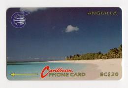 ANGUILLA REF MV CARDS ANG-3A EC $20 Année 1992 CN 3CAGA Schoal Bay Beach - Anguilla