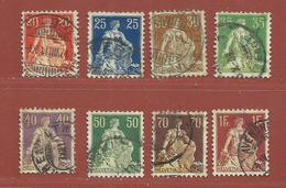 Timbre Suisse N° 119 - 120 - 121 - 122 - 123 - 124 - 125 - 126 - Oblitérés