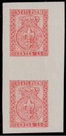 Parma: Giglio Borbonico Sormontato Da Corona Ducale 15 C. Vermiglio / Coppia Verticale - 1853/55 - Parma
