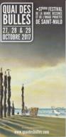 PLESSIX : Depliant Salon SAINT MALO 2017 - Libros, Revistas, Cómics