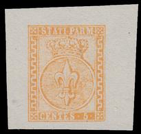 Parma: Giglio Borbonico Sormontato Da Corona Ducale 5 C. Giallo Arancio - 1853/55 - Parma