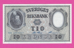 SUEDE  Billet  10 Kronor 1956  Pick 43d  UNC - Sweden